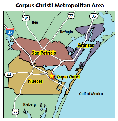 Corpus Christi Zip Code Map. Map Image Of The Property Bay Vista ...