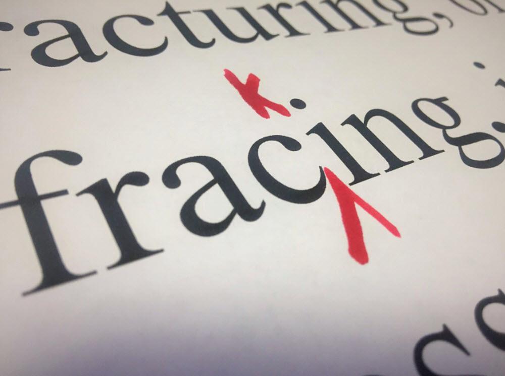 fracking word image