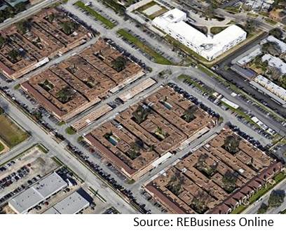 aerial view of apartment pair