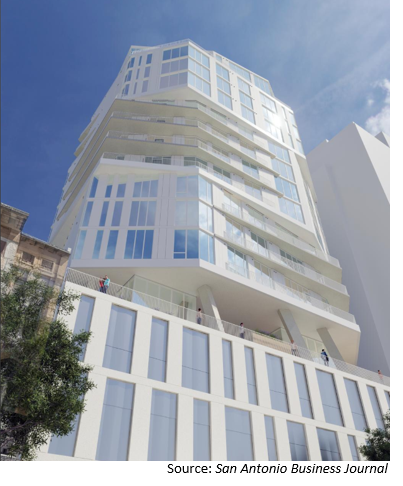Rendering of Riverwalk mixed-use project