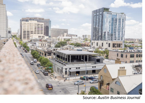 Mixed-use rendering in Austin
