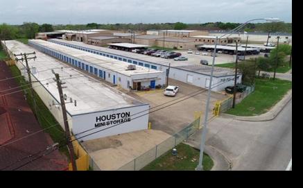 Aerial view of Houston Mini Storage on Main St.