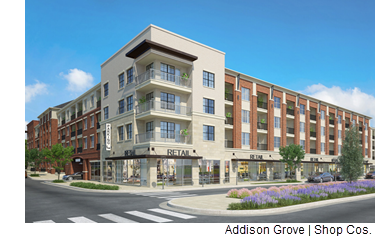 A rendering of the Addison Grove project.