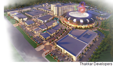 A rendering of the Allen Sports Village project.
