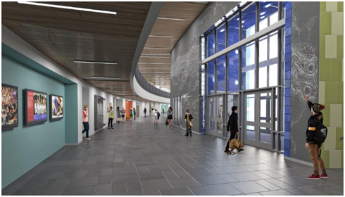 Rendering of STEAM center lobby