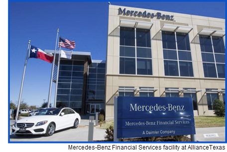 Mercedes-Benz Financial Services will have a new 200,000-sf facility at AllianceTexas