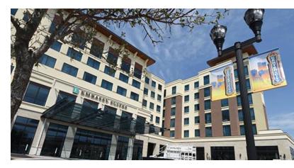 Embassy Suites entrance in Amarillo