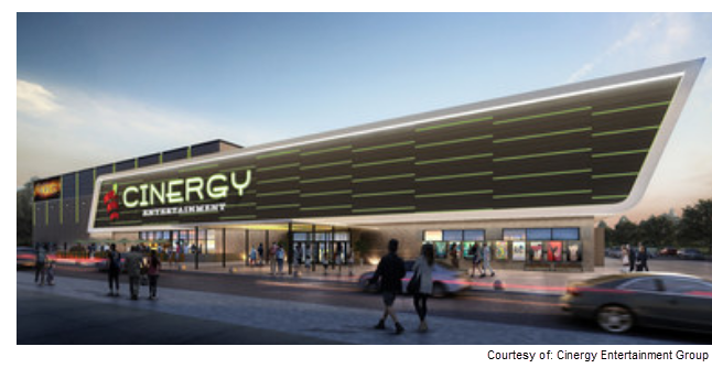 Rendering for Cinergy Entertainment Center in Amarillo