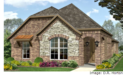 Rendering of D. R. Horton Home going in Harvest Townside