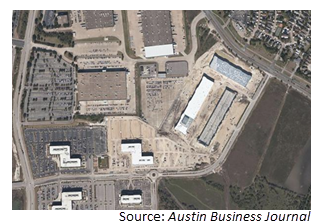 Birds-eye view of Parmer Austin