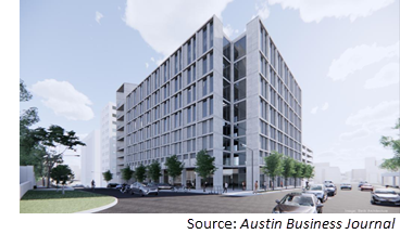 Rendering of 9-story building at 203 W. 10th St.
