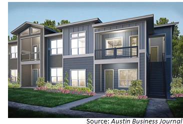 Rendering of a condominium unit at Canopy at Westgate Grove