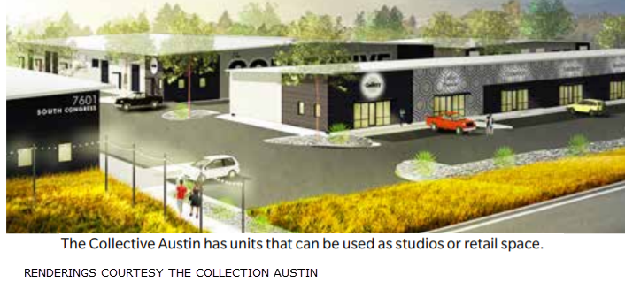 The Collection Austin commercial warehouse development in Austin