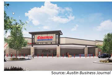 Rendering of Costco store proposed for Georgetown