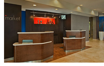 Front desk at Courtyard by Marriott.