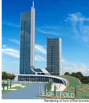 Rendering of Eightfold Campus