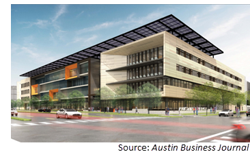 Rendering of Austin Energy's new 275K-sf headquarters
