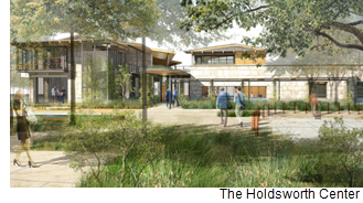 Rendering of the Holdsworth Center.