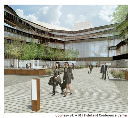 Rendering of AT&T Conference Center in Austin