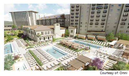 Rendering of new Omni hotel renovation and expansion in Barton Creek