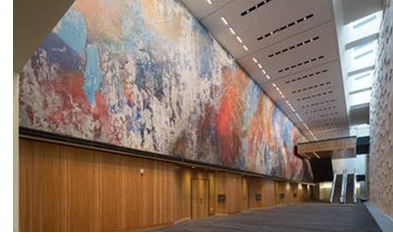 A view of a mural commissioned as part of the expansion.