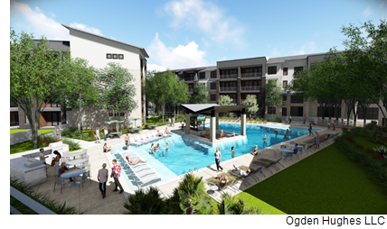 Austin-based developer Oden Hughes LLC is building a 350-unit apartment complex called Lenox Ridge.