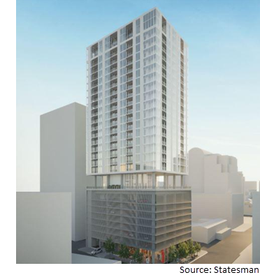 Rendering of the Linden at 313 W. 17th St.
