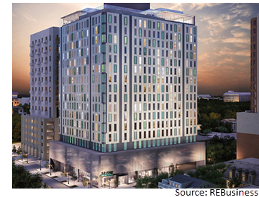 502-bed MUZE at 2100 Nueces St.