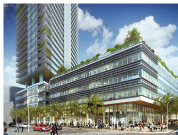Rendering of mixed-use project
