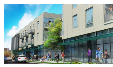 Rendering of Austin mixed-use community Fourthand