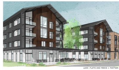 Rendering of Highland Campus apartments