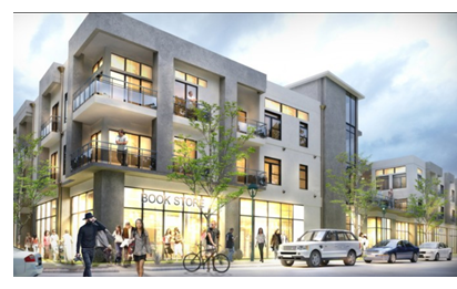Rendering of development in the Mueller district