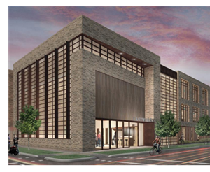 Rendering of The Foundry mixed-use building in east Austin