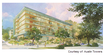 Rendering for the 1155 project in Austin
