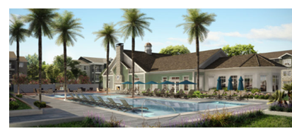 Rendering of Brezza courtyard