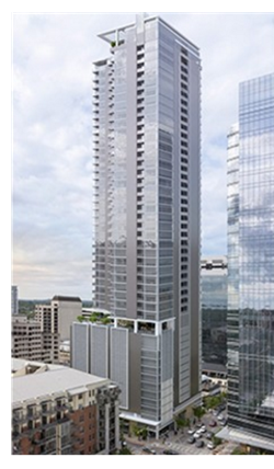 Rendering of the 44-story high-rise in Austin