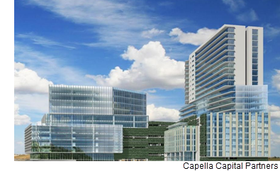 A rendering of North Gateway Plaza.