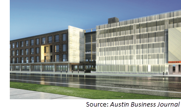 Rendering of 130K-sf office building at 2700 E. 5th St.