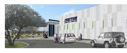 Rendering of Junction Athletic Complex west of Oak Hill
