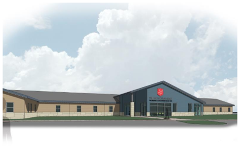 Salvation Army shelter rendering