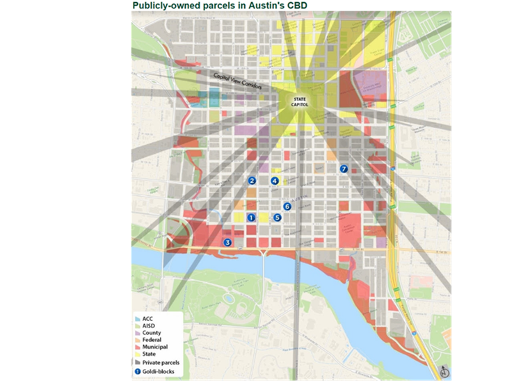 CBD map of publicly owned parcels