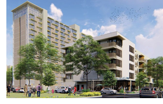 Rendering of the redeveloped RBJ center in Austin.