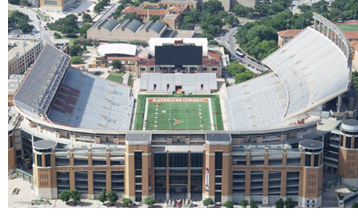 Aerial view of Darrell K. Royal-Texas Memorial Stadium.