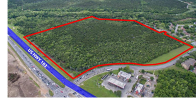 Image of where the 92-single family homes will go.