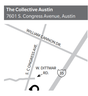 Map to The Collective Austin for flex industrial space