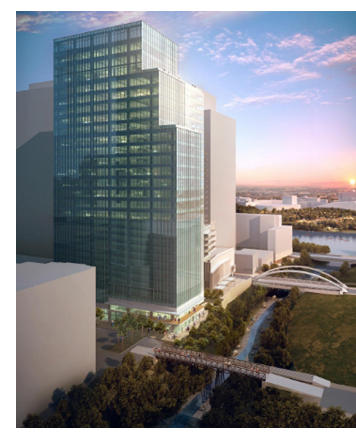 Rendering of Third and Shoal in downtown Austin