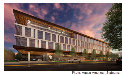 Rendering of Main Street Hub Headquarters in Austin