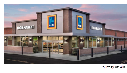 Rendering of Aldi in Pflugerville