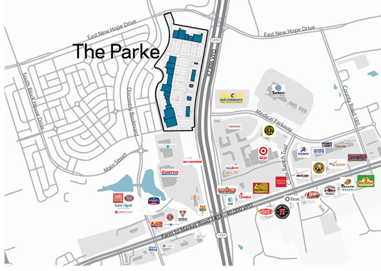 Design plans for The Parke in Cedar Park