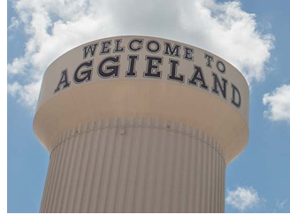 Welcome to Aggieland water tower